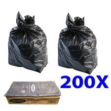 REFUSE SACKS HEAVY DUTY 200 X BLACK RUBBISH WASTE BAGS 22x34x47 250g GOLIATH
