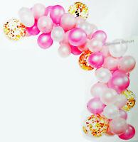 BABY SHOWER BIRTHDAY PARTY BAUTIZO MIS 15 BALLOON GARLAND ARCH KIT PINK PRINCESS