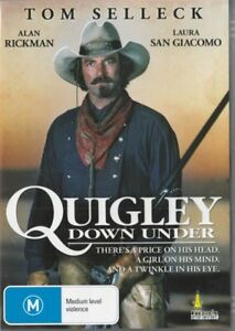 QUIGLEY DOWN UNDER - TOM SELLECK - REGION  4 NEW & SEALED DVD - FREE LOCAL POST