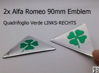 2x Alfa Romeo 90mm  LINKS+RECHTS  159 MiTo Emblem Kleeblatt Quadrifoglio Verde