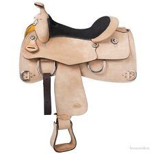 15 Inch Trinidad Western Training Saddle - Roughout Leather - Flex Tree