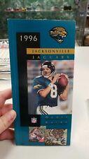 1996 JACKSONVILLE JAGUARS NFL FOOTBALL MEDIA GUIDE