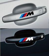 Para BMW // M - 4 x Mango de puerta-Coche Decal Sticker Adhesivo - 100mm de largo