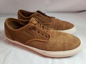 SZ. 12 Emerica Skateboarding Men's Wino Standard Skate Shoe Tan/White chocolate