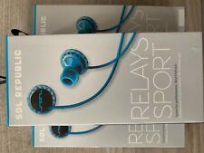 Sol Republic Relays Sport Wired In-Ear Earphones Headphones MIC Sweat Resistant