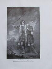 Garrick als Richard III. 1772, Schabkunstblatt - altes Bild aus 1921