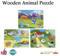 WOODEN ANIMAL PUZZLE Jigsaw Early Learning Toys Baby Kids Educational Toy Gift