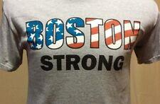 Patriotic Boston Strong Gray Short Sleeve T-Shirt Size S