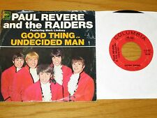 LOT of 2 60s ROCK 45 RPMs w/PICTURE SLEEVE- PAUL REVERE & RAIDERS -