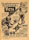 victa18 rotomo lawnmower advert repoduction 1957 a3 size
