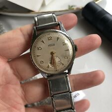vintage HIRCO Swiss Made Mechanical Mens Dress Watch With Second Sub Dial