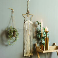 Bohemian Macrame Woven Handmade Wall Hanging Star Tapestry Wedding Home Decor