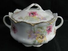 Antique Rosenthal Porcelain Biscuit Cracker Cookie Jar Malmaison Bavaria C1900