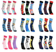Official Childrens Characters Novelty Boys & Girls Soft Touch 3 Pairs Socks Pack