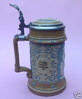 Historismus ½ Liter Steinzeug Mettlach Sänger Bierkrug #202 Villeroy & Boch~1880