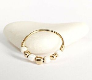 9K Conch Earring Hoop Upper Lobe Piercing Ring 20g 13-16mm Solid Gold