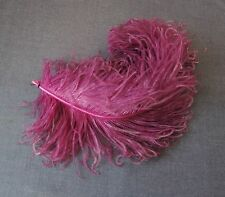 ANTIQUE EDWARDIAN FUCHSIA HUGE FEATHERS FOR MILLINERY HATS FASCINATORS MAKING D