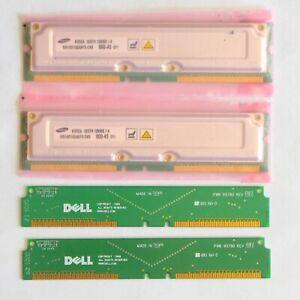 256MB Rambus RDRAM RIMM Memory and Continuity Jumper Modules