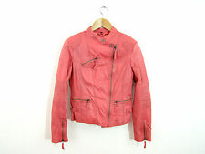 MAZE Lederjacke 42 eher 40 NEU Leder Jacke Biker Used Look Glattleder rosa 784