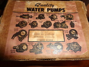 NOS Quality Water Pump Ford V8 1937-1948 Mercury 1939-1948 CP19 Right Side