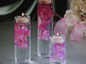 6 Glass CYLINDER CANDLE HOLDERS tealights wedding centerpiece table decor CUTE