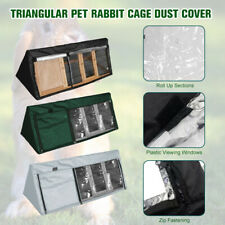 210D Oxford Fabric Triangle Bunny Hutch Cover Waterproof Rabbit Cage Dust Cover