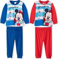 Disney Mickey Mouse Baby Babies Boys Girls Long Sleeve Sleeping Pyjamas Sets Nightwear 100/% Cotton 0-24 Months
