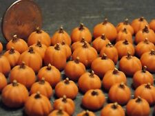 Dollhouse Miniature Fall Pumpkins Halloween!  Lot of 10 1:24  1/2 inch scale A3