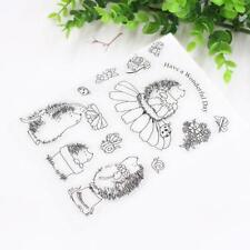 Hedgehog Transparent Silicone Clear Rubber Stamp Cling Diary Card Scrapbooking!