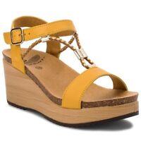 SCHOLL BLANCHE BioPrint sandali zoccoli ciabatte donna zeppa pelle camoscio