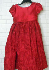Cinderella Textured Red Christmas Holiday Dress Size 4 4T Empire Waist