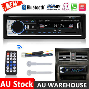 Car Radio Stereo 1Din Bluetooth FM Audio Head Unit Player MP3/USB/SD/AUX In-Dash
