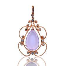 Rarities Carol Brodie Rose Vermeil Pink Amethyst & White Topaz Gemstone Pendant.