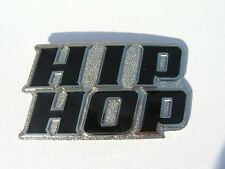 HIP HOP Black and Chrome Belt Buckle to attach to own belt New