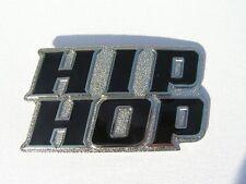 Hip Hop Noir et Chrome Boucle de Ceinture S'Attache à Sa Ceinture Neuf
