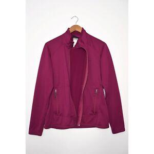 PATAGONIA R1 Fleece Jacket Regulator Waffle Grid Zip Magenta size Large FLAW