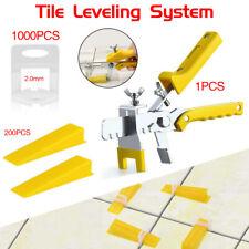 1201 x Nivelliersystem Zuglaschen Fliesen 2mm Verlegehilfe Laschen+Keile+Zange