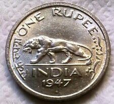 ★British India,One Rupee 1,KG VI,Rare Coin of 1947,Last Rupee Coin of British ★