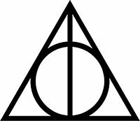 Harry Potter Deathly Hallows Vinyl Decal Sticker for Car/Window/Wall