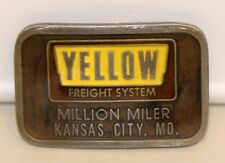 Hit Line USA Belt Buckle Yellow Freight Systems Million Miler Kansas City MO