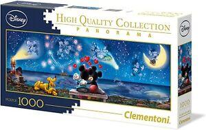 DISNEY MICKEY & MINNIE Jigsaw Puzzle 1000 PIECE Clementoni NEW FREE P&P