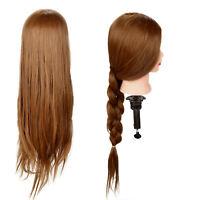 "26"" 30% Real Human Hair Salon Hairdressing Training head Mannequin Doll"