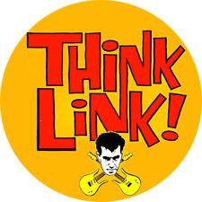 CHAPA/BADGE THINK LINK! . pin button link wray cramps robert gordon rockabilly