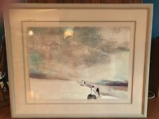 "Earl Biss Framed ""Silent Sunrise Morning Signed/Numbered MP 1/40 1984"