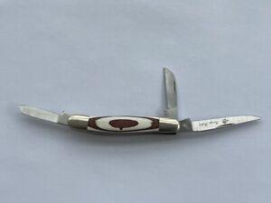 Nice Frost Cutlery Range Rider Japan 3 Blade Folding Pocket Knife Surgical Steel