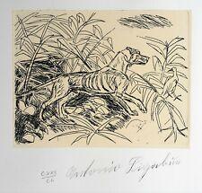 Antonio Ligabue - Acquaforte originale numerata, firmata in lastra