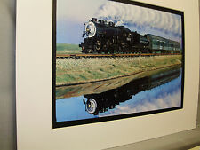 Southern Pacific Steam reflection in River  neat  Artist Railroad Archives ee