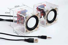 DIY Music Amplifier Electronic Kit Mini Remarkable Transparent Speaker F4A4