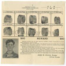 Wanted Notice - Brooks Lovely - Parole Violator - Atlanta, GA - 1926