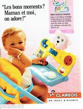 PUBLICITE ADVERTISING 036  1989  Clairbois  jeux jouets bébé